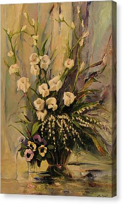 Canvas Print featuring the painting Bouquet by Tigran Ghulyan