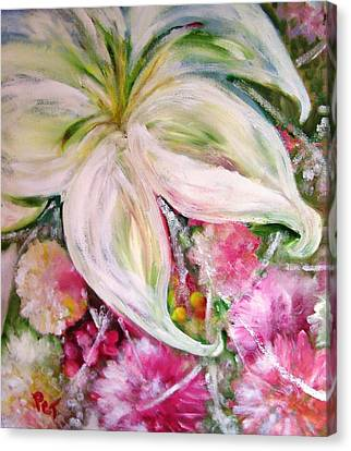 Patricia Taylor Canvas Print - Bouquet With White Lily by Patricia Taylor