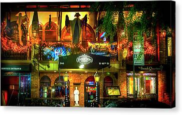 Bourbon Street Bar And Grille Canvas Print