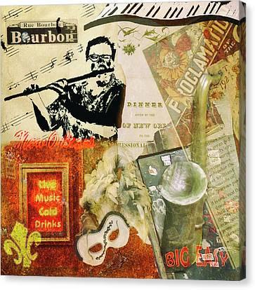 Bourbon Street Collage Canvas Print