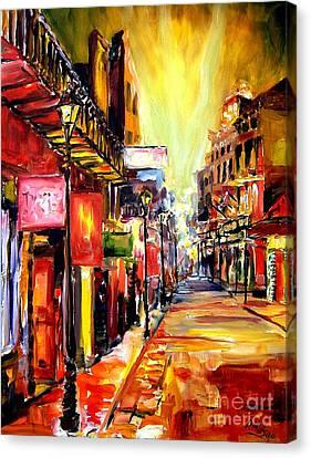 Big Easy Canvas Print - Bourbon Street Dazzle by Diane Millsap