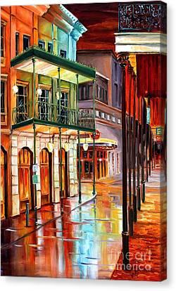 Bourbon Street Glow Canvas Print by Diane Millsap