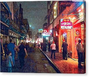 Bourbon Street - New Orleans Canvas Print by Glenn McCarthy Art and Photography