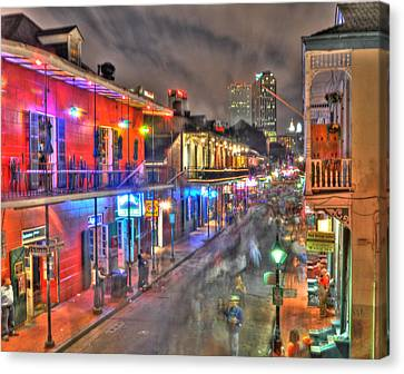 Bourbon Street Revelry Canvas Print by Alex Owen