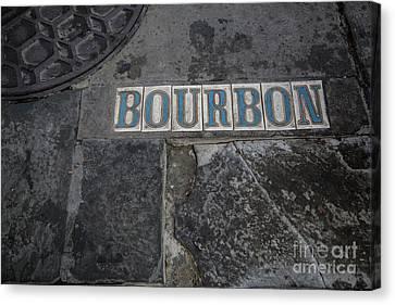 Bourbon Street Sidewalk Tiles Canvas Print