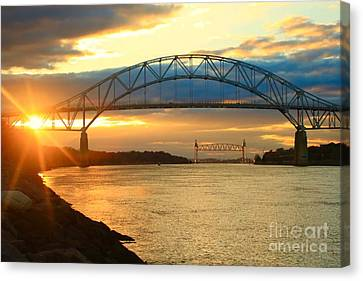 Bourne Bridge Sunset Canvas Print
