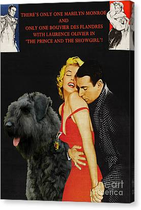 Bouvier Des Flandres - Flanders Cattle Dog Art Canvas Print - The Prince And The Showgirl Movie Post Canvas Print