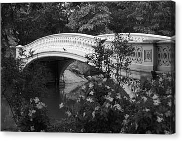 Bow Bridge In Central Park Canvas Print