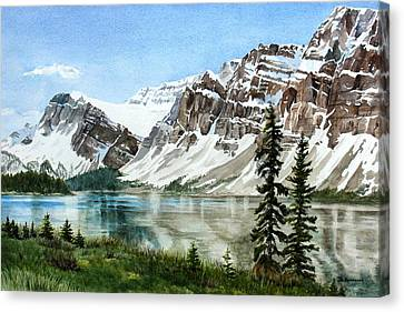 Rocky Mountain Canvas Print - Bow Lake Alberta No.2 by Debbie Homewood