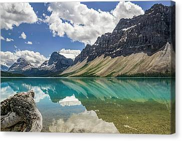 Canvas Print featuring the photograph Bow Lake by Christina Lihani