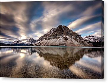 Bow Lake Dramatic Reflection Canvas Print by Pierre Leclerc Photography
