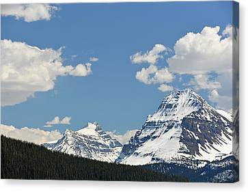 Bow Lake Mountains Canvas Print