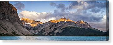 Bow Lake Panorama Canvas Print by Tomas Nevesely