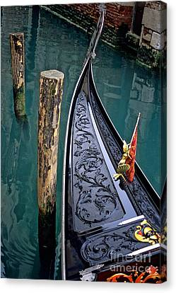 Bow Of Gondola In Venice Canvas Print by Michael Henderson