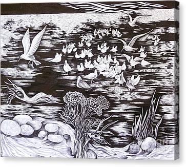 Bow River Canvas Print by Anna  Duyunova