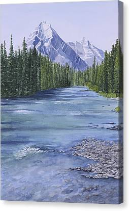 Bow River Canvas Print by Debbie Homewood