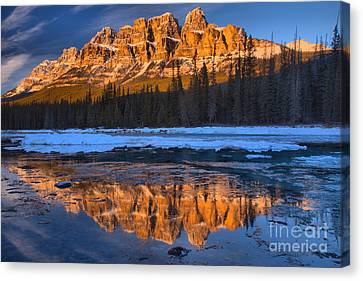 Canvas Print - Bow River Sunset Reflections by Adam Jewell