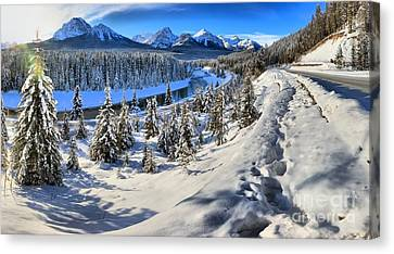 Bow Valley Mountains Canvas Print by Adam Jewell
