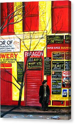 Bowery Canvas Print by Leonardo Ruggieri