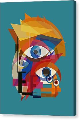 Bowie Bauhaus - Changes Three Canvas Print by Big Fat Arts