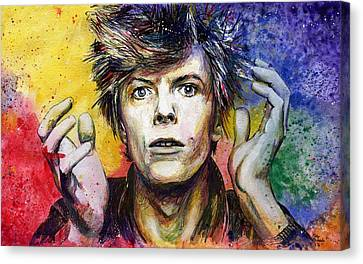 Bowie Canvas Print by Nate Michaels