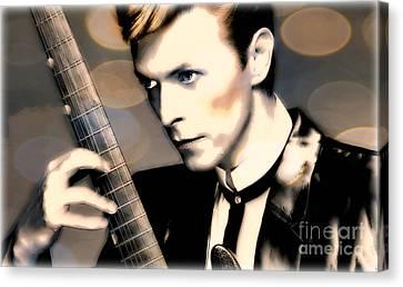Bowie Canvas Print by Wbk