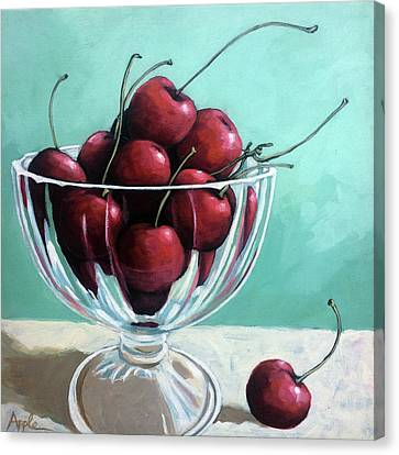 Canvas Print - Bowl Of Cherries by Linda Apple