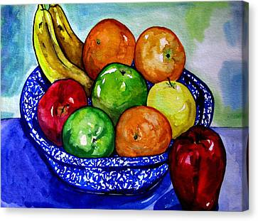 Bowl Of Fruit Canvas Print by Colleen Kammerer