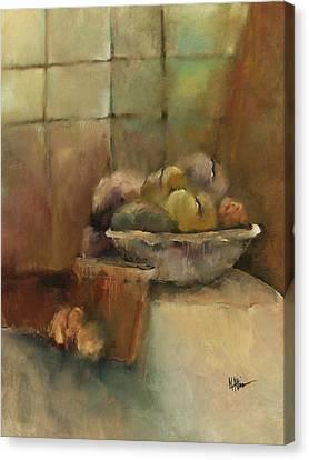 Bowl Of Fruit Canvas Print by M Allison