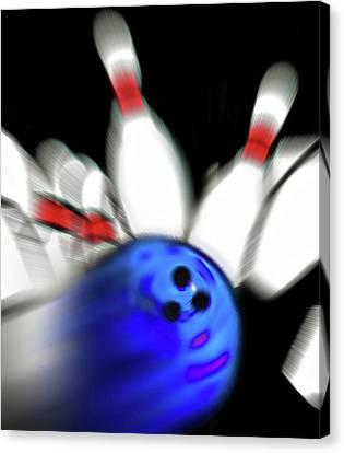 Bowling Sign 2 - Strike  Canvas Print by Steve Ohlsen
