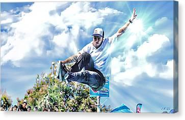 Bowlriders, Skateboarder Canvas Print