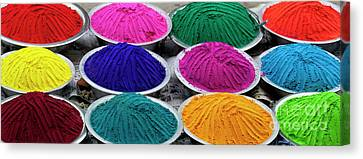 Bowls Of Coloured Powder  Canvas Print by Tim Gainey