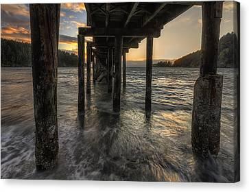 Bowman Bay Pier Canvas Print by Mark Kiver