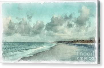 Bowman Beach Sanibel Island Florida Canvas Print by Edward Fielding