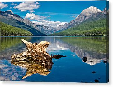 Bowman Lake 1, Glacier Nat'l Park Canvas Print