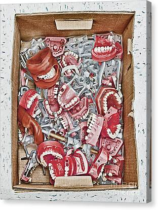 Box Of Dental Equipment Canvas Print by Skip Nall