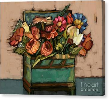 Box Of Flowers Canvas Print