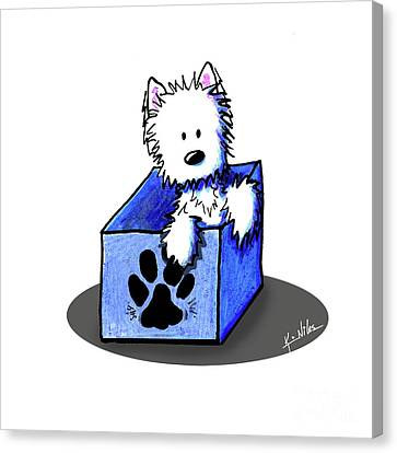 Boxed In Cuteness Canvas Print by Kim Niles