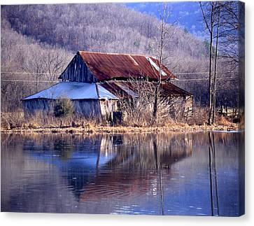Boxely Barn Reflection Canvas Print by Curtis J Neeley Jr