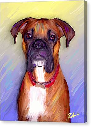 Boxer Beauty Canvas Print by Karen Derrico