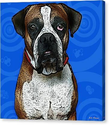 Boxer Canvas Print by Bibi Rojas
