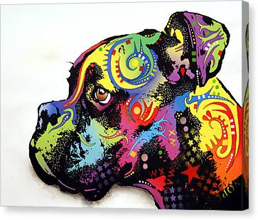 Boxer Canvas Print by Dean Russo