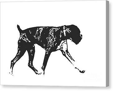 Boxer Dog Tee Canvas Print by Edward Fielding