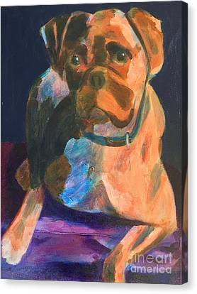 Boxer Canvas Print by Donald J Ryker III
