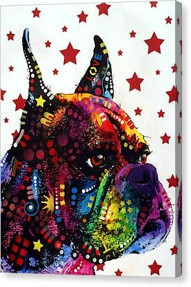 Boxer Love Canvas Print by Dean Russo