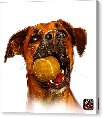 Boxer Mix Dog Art - 8173 - Wb Canvas Print by James Ahn