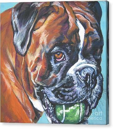 Boxer Tennis Canvas Print by Lee Ann Shepard
