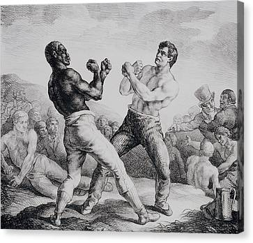Boxer Canvas Print - Boxers by Theodore Gericault