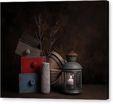 Boxes And Bowls Canvas Print by Tom Mc Nemar