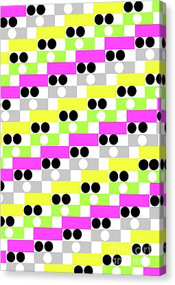 Boxes And Spots Canvas Print